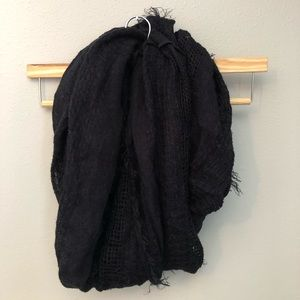 Black Distressed Circle Scarf